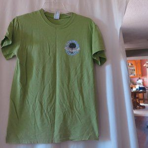 CAROLINA GIRLS Womens T-Shirt Green Size S